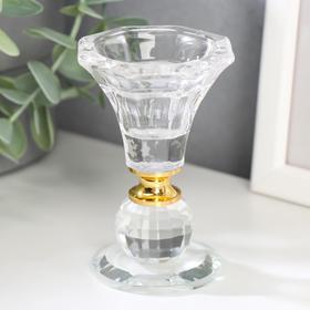"""Подсвечник стекло на 1 свечу """"Вазон с шариком"""" 9,2х5,6х5,6 см"""