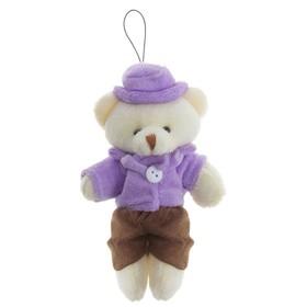 """Мягкая игрушка-подвеска """"Мишка в шляпке"""""""