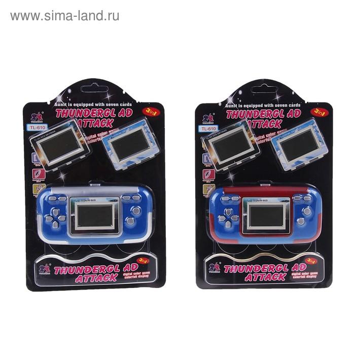 Электронная игра TL-610, 3 игры, цвета МИКС