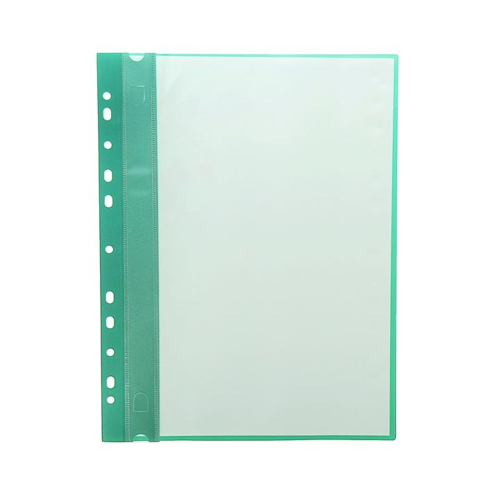 Папка формат А4 с 10 прозрачными файлами с перфорацией пластик МИКС