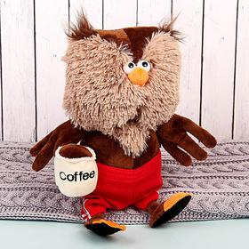 "Мягкая игрушка ""Сова & Coffee"" 25 см"
