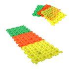 Массажный коврик 1 модуль «Орто. Камни мягкие», флуоресцентный, цвета МИКС