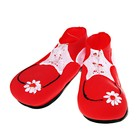 """Ботинки клоуна """"Красные"""" с ромашкой, 30х11 см"""