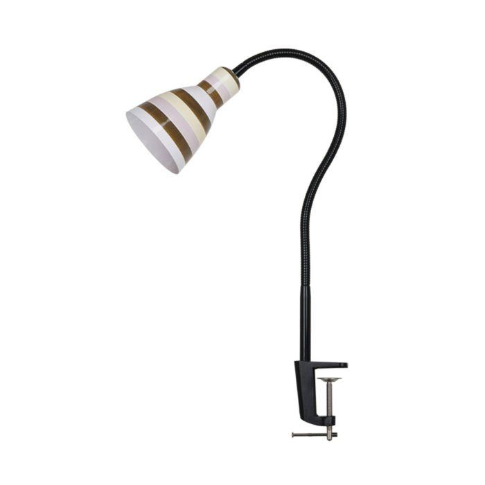 Настольная лампа PIKA E27 60W 220V цветная полоска, белый