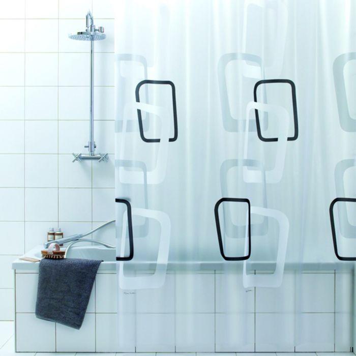Штора для ванной Quadry nero, 180х200 см