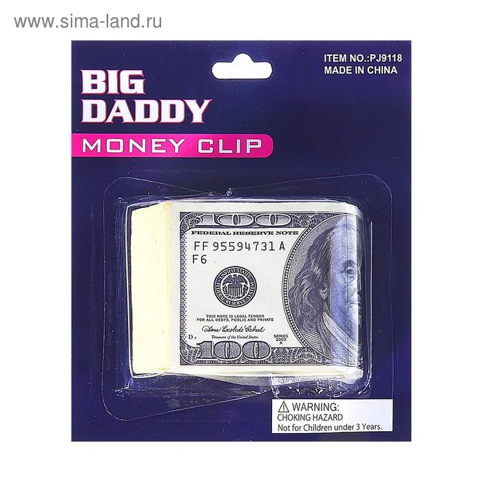 Прикол зажим для денег Доллар