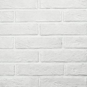 """Гипсовый декоративный камень """"Кирпич монастырский"""", белый, 90 шт., 1 кв.м"""