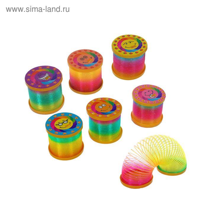 "Пружинка-радуга ""Улыбка"", с подсветкой, набор 12 шт., цвета МИКС"