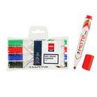 Набор маркеров для доски 4 цвета 5.0 мм Deli Mate EU00403, скошенный