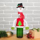 """Одежда на бутылку """"Снеговик"""" елочка на одежде"""
