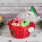 """Конфетница """"Дед Мороз"""", пушистая борода, вместимость 300 г"""