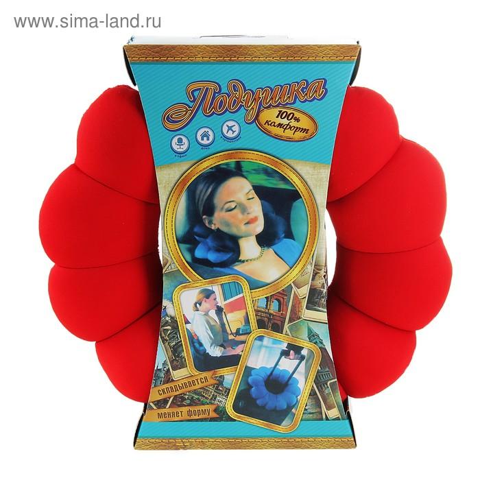 """Мягкая игрушка - антистресс подголовник """"Круг"""" красный"""