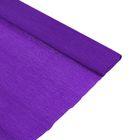 Бумага крепированная 50*200см плотность-32 г/м в рулоне Фиолетовый (80-25)