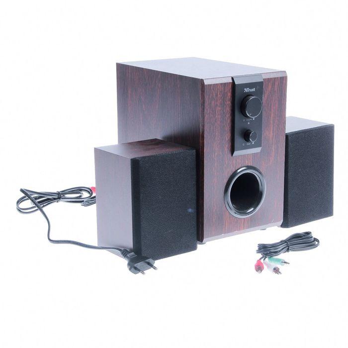 Акустическая система 2.1 Trust SILVA, Суммарная мощность 32Вт, 220В, коричневые