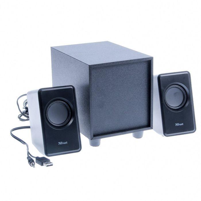 Акустическая система 2.1 Trust AVORA, Суммарная мощность 18Вт, USB, черные