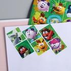 """Наклейки детские декоративные СМЕШАРИКИ """"Друзья!"""" зеленый, 15 х 8 см"""