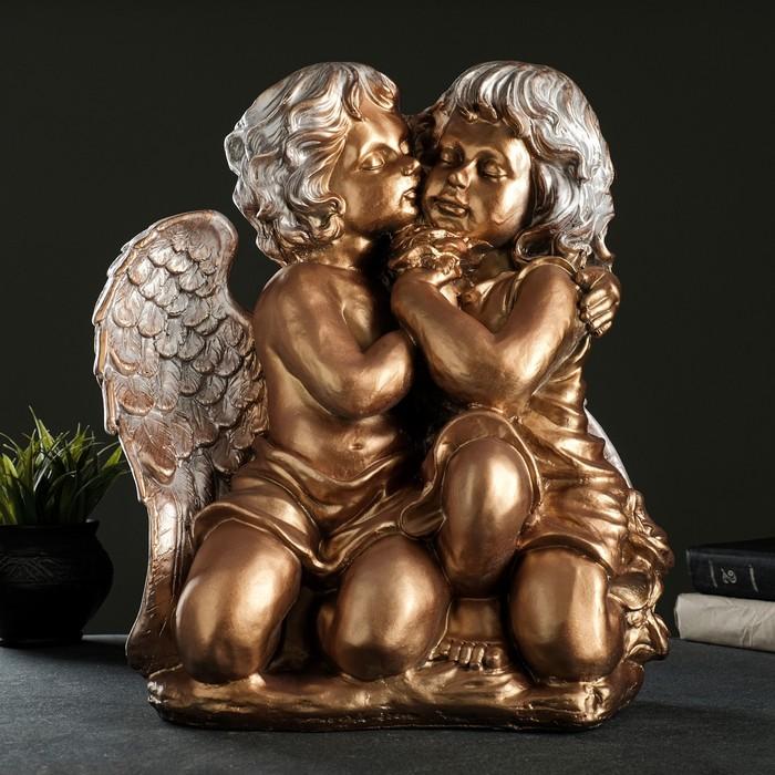 """Статуэтка """"Ангел и Фея"""" большая, бронза"""
