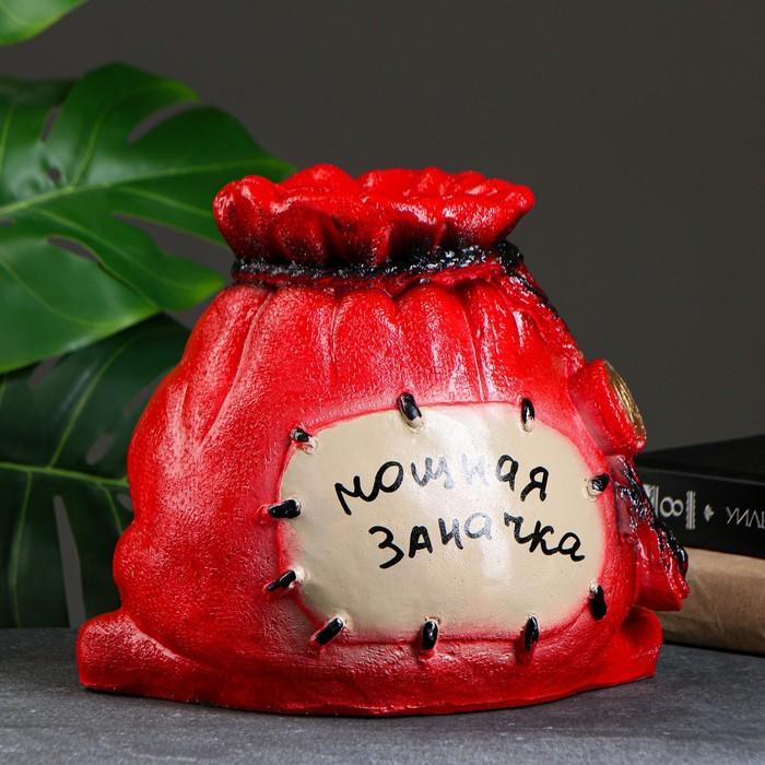 "Копилка ""Мешок: мощная заначка"" красная"