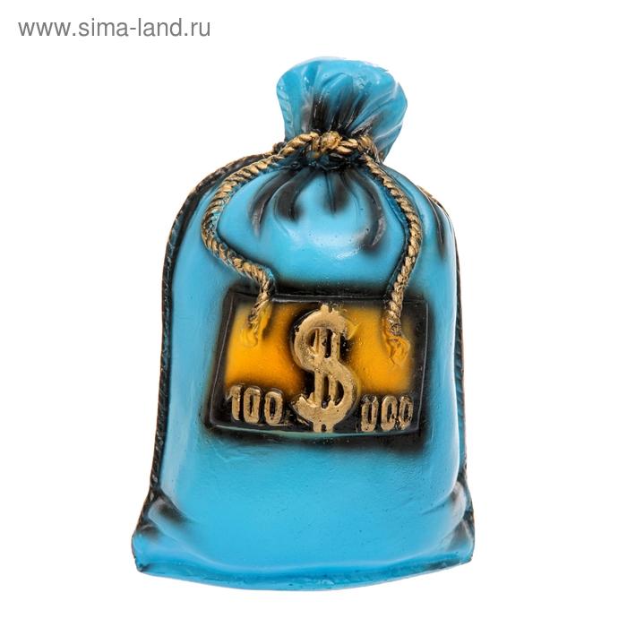 """Копилка """"Мешок: 100 тысяч долларов"""" синяя"""