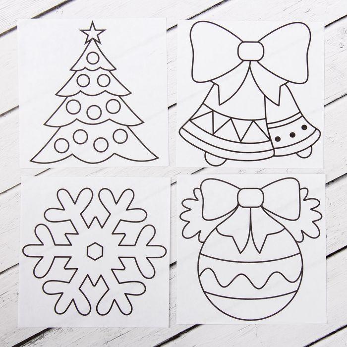 рисунки из витражных красок на новый год руками коснусь