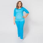 Пижама женская (джемпер, брюки) К-09-08 цвет голубой, р-р 50