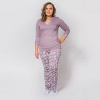 Пижама женская (джемпер, брюки) К-35-08 цвет какао, р-р 50