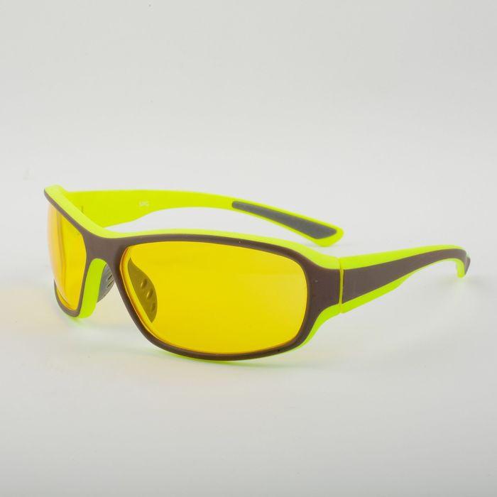 Очки для активного отдыха SPG «Непогода | Ночь» серо-лимонный premium / комплектация: Чехол   276605