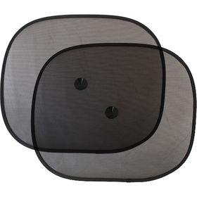 Шторки солнцезащитные на боковые стекла, 44х36 см, чёрный