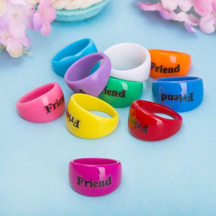 Кольцо Best friends яркий день, размер МИКС, цвет МИКС