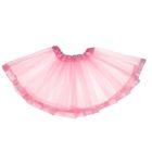 Карнавальная юбка двухслойная, цвет розовый