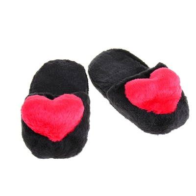 """Тапочки """"Сердце"""", 39 размер, цвет чёрный"""