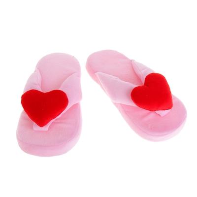 """Тапочки """"Сердечко"""", 39 размер, цвет розовый"""