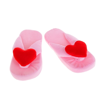 """Тапочки """"Сердечки"""", 42 размер, цвет розовый"""