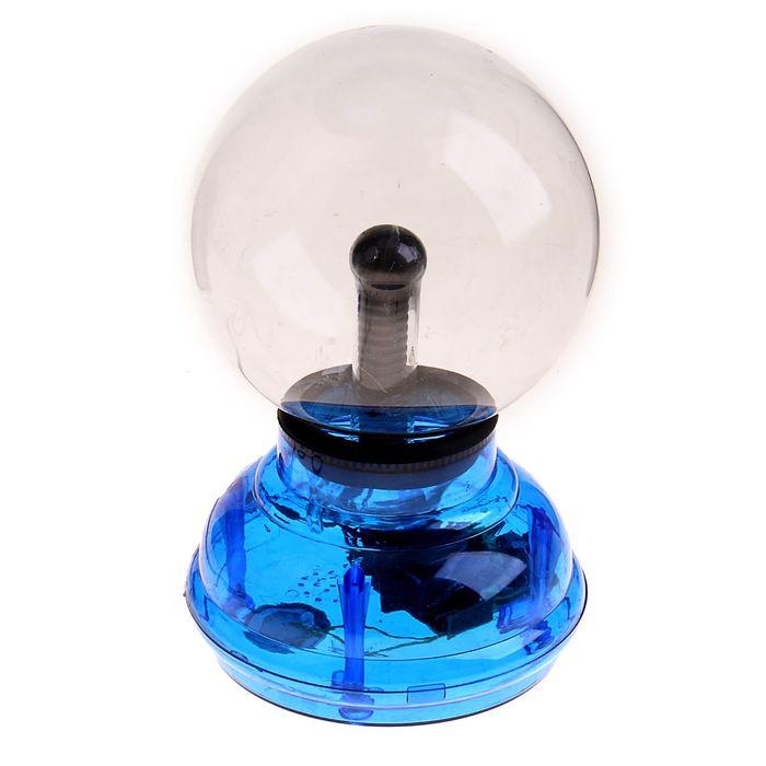 """Плазменный шар """"Природа"""" синий"""