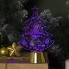 """Подставка световая """"Елочка с подарками"""", 14х9.5 см, 1 LED, батарейки в комплекте, RGB"""