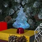 """Подставка световая """"Елочка с шариками"""", 14х9.5 см, 1 LED, батарейки в комплекте, RGB"""