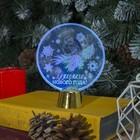 """Подставка световая """"Снегирь"""", 13.5х11 см, 1 LED, батарейки в комплекте, RGB микс"""