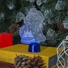 "Подставка световая ""Дед Мороз, Москва"", 14.5х9 см, 1 LED, батарейки в комплекте, RGB микс"