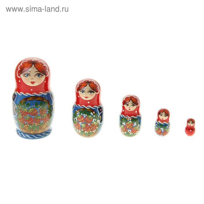 """Матрешка """"Ягоды в корзинке"""" 5 кукол, художественная роспись"""