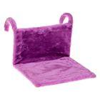 Гамак на батарею Happy Friends для кошек, 43 х 32 х 20 см, велсофт, фиолетовый