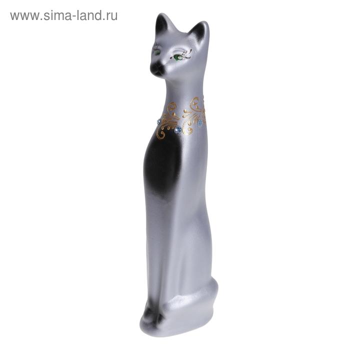 """Копилка """"Серый кот"""" малая, акрил"""