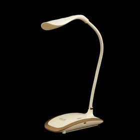 """Лампа настольная LED """"Эстетика"""" сенсорная, USB белая с золотом 42х16х8 см"""