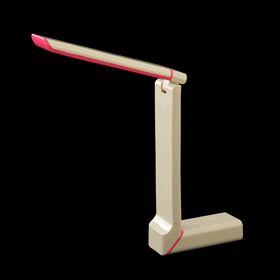 """Лампа настольная LED """"Лорд"""" сенсорная, USB белая с розовым 23,5х28,5х4,7 см"""