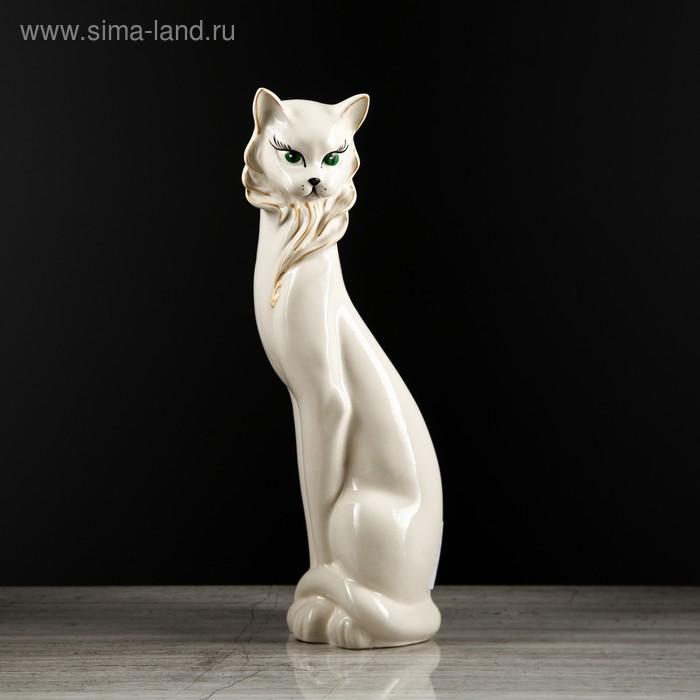 """Копилка """"Кошка Иден"""" глазурь, белая"""