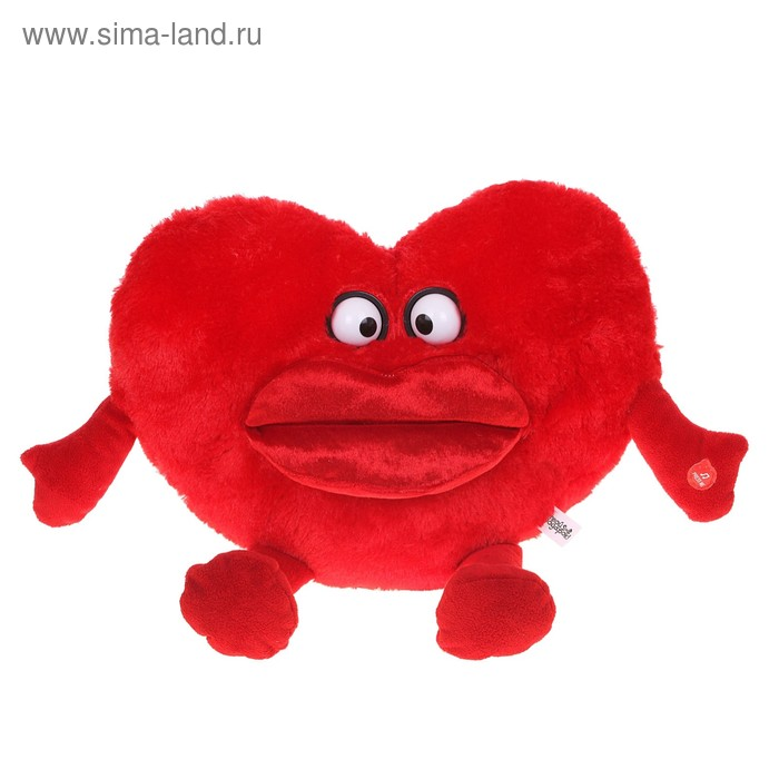 """Мягкая игрушка интерактивная """"Сердце красное"""" вертятся глазки"""