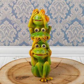 "Сувенир полистоун ""Лягушата: не вижу, не слышу, не скажу"" 15х6,3х3,5 см"