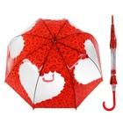 """Зонт-трость, механический """"Розы"""", R=42, цвет красный, 121216"""