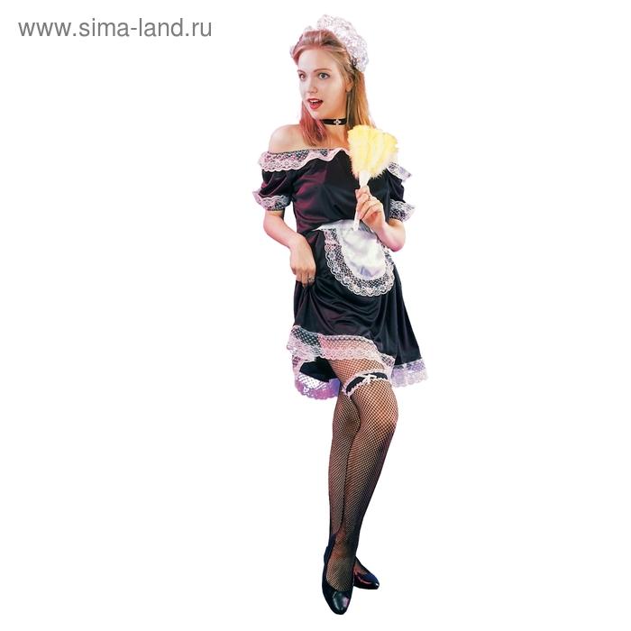 """Карнавальный костюм для взрослых """"Французская горничная"""", 3 предмета: платье, фартук, головной убор, размер М-L"""