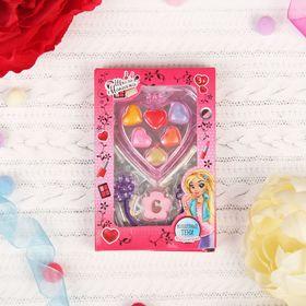 Набор косметики для девочки блеск для губ 6 цветов по 0,3 гр, резинка и заколочка для волос 186476