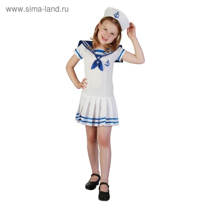 """Карнавальный костюм """"Морячка"""", 2 предмета: платье, шляпа, размер S 110-120 см"""